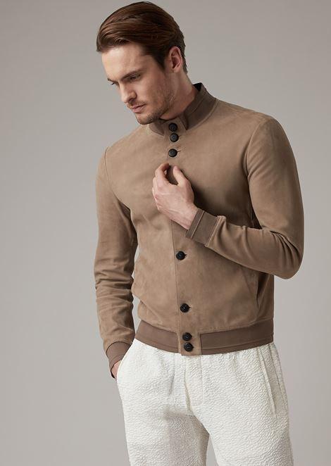 Premium quality lambskin suede jacket