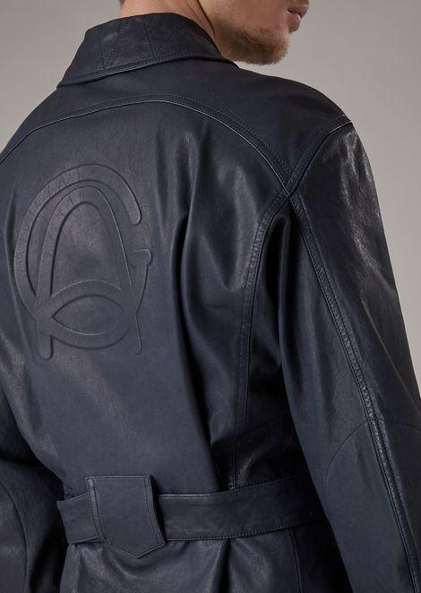 Куртка «Сахара» из кожи ягненка наппа, обработанной вготовом виде, слоготипом на спине