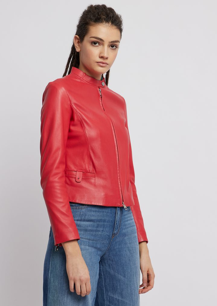 0a045b1507 Biker jacket in glove-like nappa leather