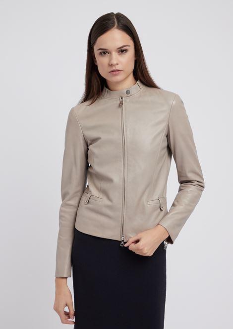 Biker jacket in glove-like nappa leather