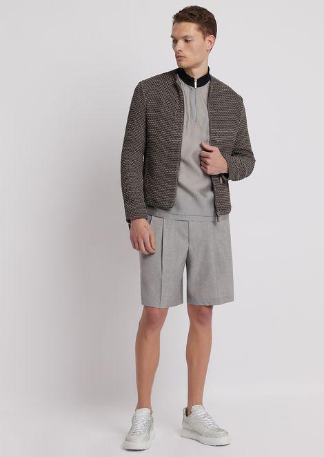ジャケット 手編みスエードレザー