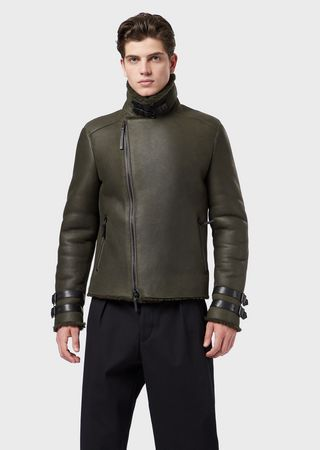 ebfb684e9 Shearling jacket with curly merino wool on the inside