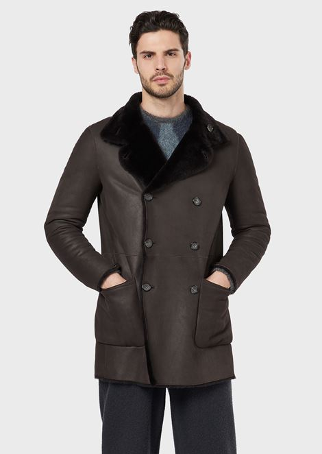 Spanish reversible shearling jacket with fleece lining