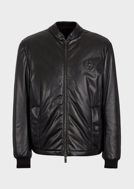 GIORGIO ARMANI Leather Jacket Man d
