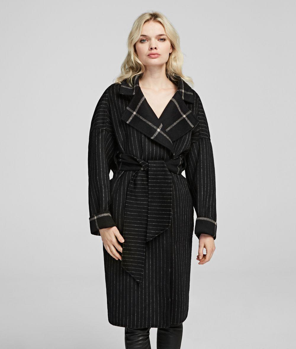 KARL LAGERFELD Mantel aus einem Wolle-Mix mit Gürtel Mantel Damen f