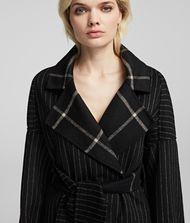 KARL LAGERFELD Mantel aus einem Wolle-Mix mit Gürtel  9_f