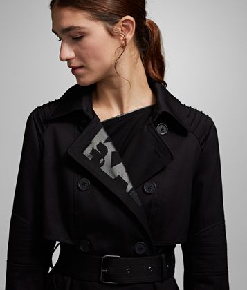 KARL LAGERFELD LOGO TRENCH COAT
