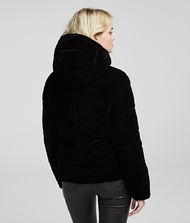 KARL LAGERFELD Velvet Down Jacket Outerwear Woman a