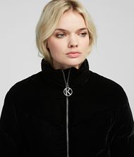 KARL LAGERFELD Velvet Down Jacket Outerwear Woman d