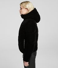 KARL LAGERFELD Velvet Down Jacket Outerwear Woman r