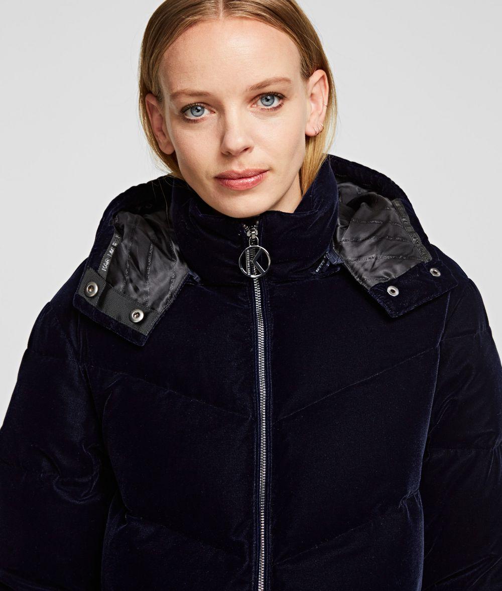 KARL LAGERFELD Velvet Down Jacket Outerwear Woman d