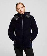KARL LAGERFELD Velvet Down Jacket 9_f