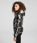 KARL LAGERFELD METALLIC DOWN JACKET
