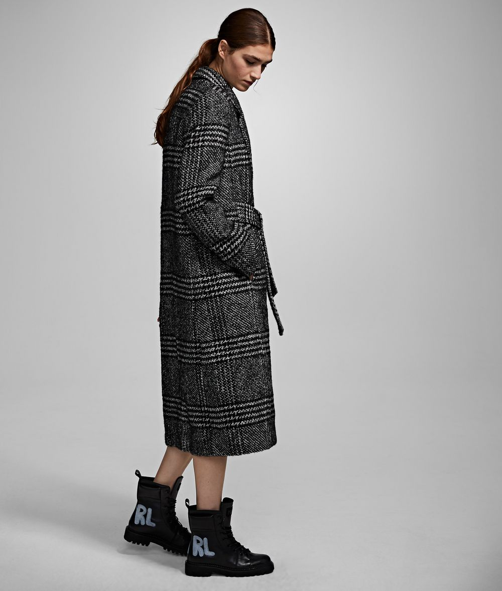 KARL LAGERFELD Checked Tailored Coat Coat Woman d