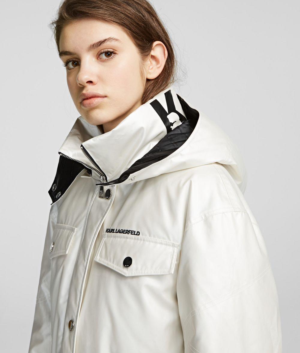 KARL LAGERFELD Technical Down Jacket Coat Woman d
