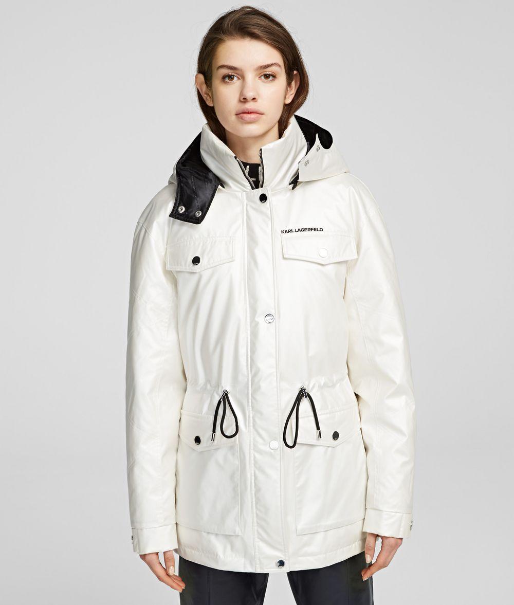 KARL LAGERFELD Technical Down Jacket Coat Woman f