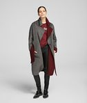 KARL LAGERFELD WOOL BLEND WRAP COAT