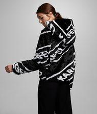 KARL LAGERFELD Faux Fur Logo Jacket 9_f