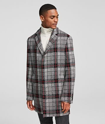 KARL LAGERFELD GLEN CHECK COAT