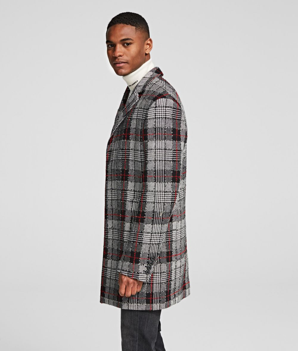 KARL LAGERFELD GLEN CHECK COAT Coat Man d