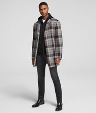 KARL LAGERFELD GLEN CHECK COAT 9_f