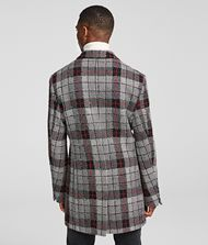 KARL LAGERFELD GLEN CHECK COAT Coat Man e