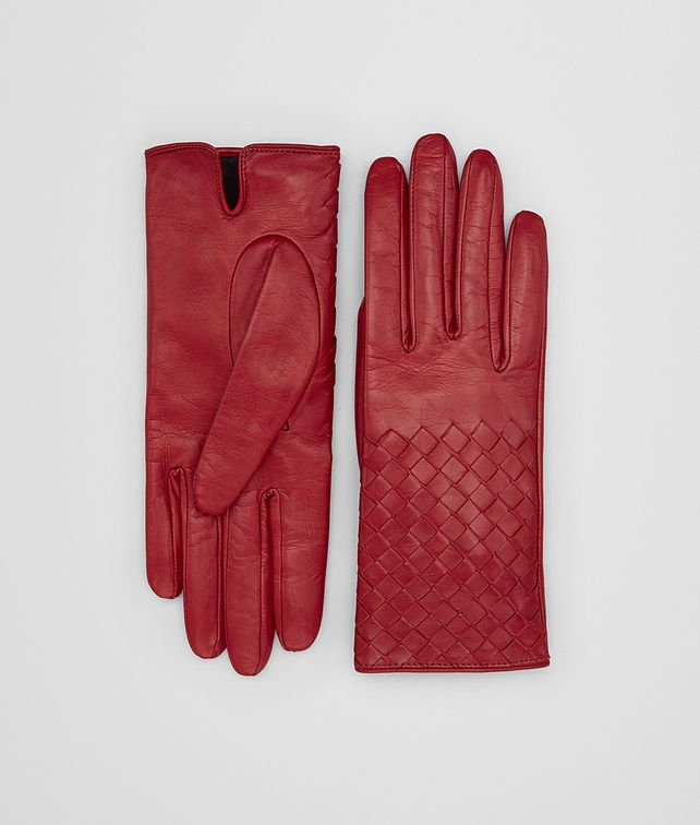 BOTTEGA VENETA CHINA RED LAMB GLOVE Hat or gloves [*** pickupInStoreShipping_info ***] fp