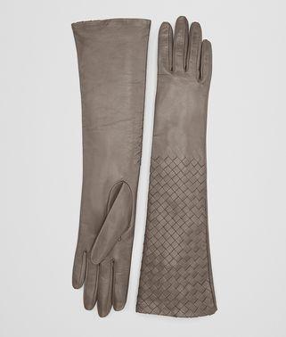 金属灰羔羊皮手套