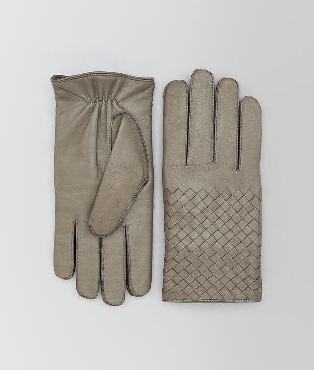 BOTTEGA VENETA DARK CEMENT NAPPA GLOVE Hat or gloves Man fp