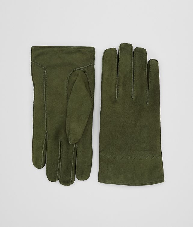 BOTTEGA VENETA FOREST SUEDE GLOVE Hat or gloves [*** pickupInStoreShippingNotGuaranteed_info ***] fp