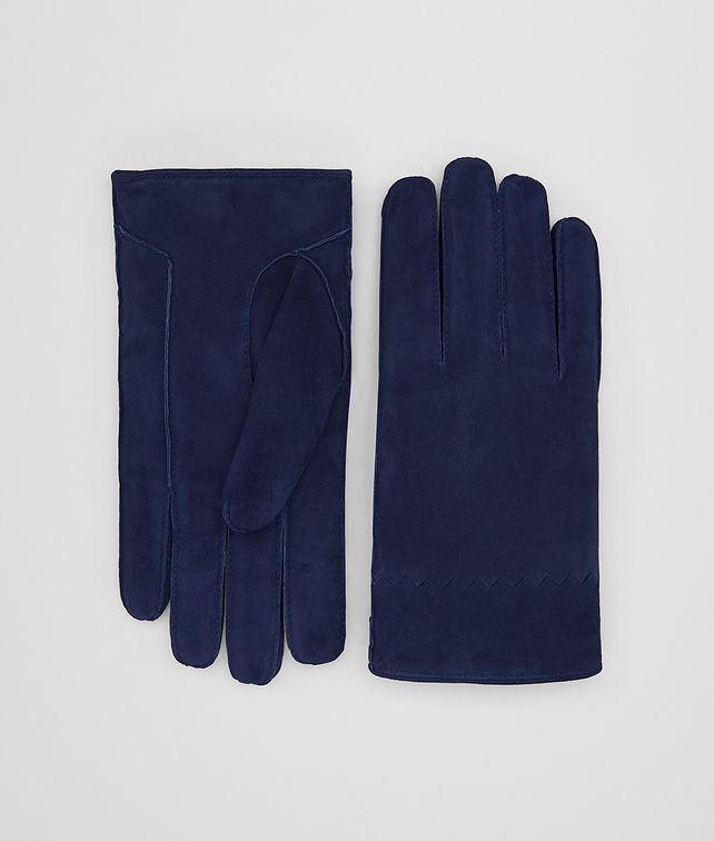 BOTTEGA VENETA DARK ATLANTIC SUEDE GLOVE Hat or gloves Man fp