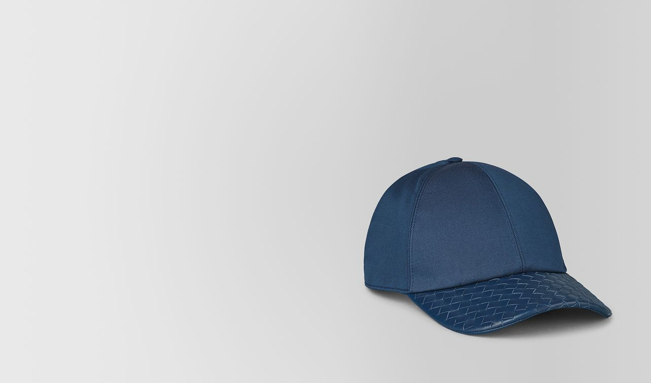 denim cotton/nappa hat landing