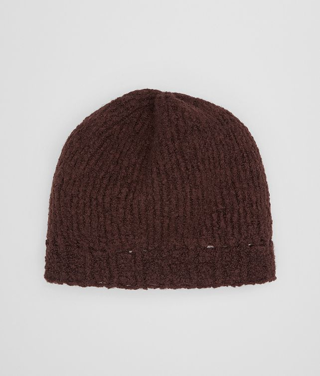 BOTTEGA VENETA COFFEE WOOL HAT Hat or gloves [*** pickupInStoreShipping_info ***] fp