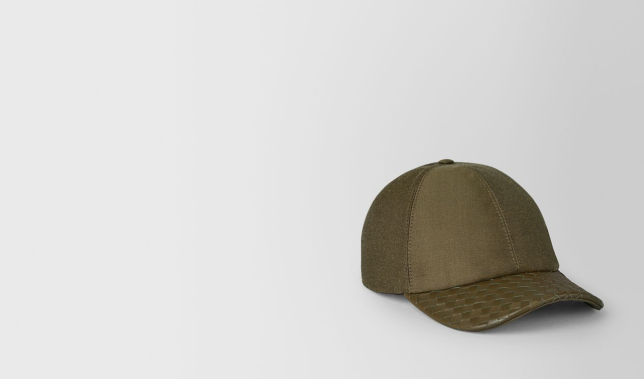 cappello in cotone e nappa landing