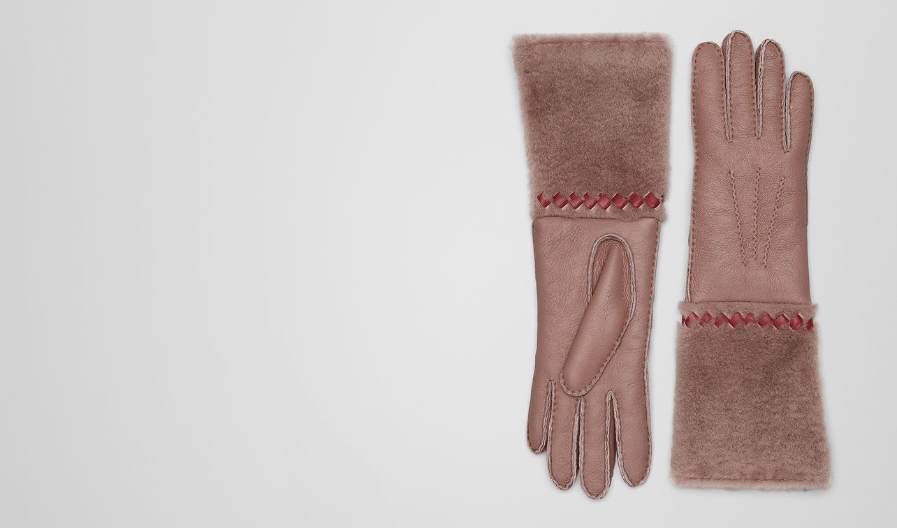 handschuhe aus shearling und nappa  landing
