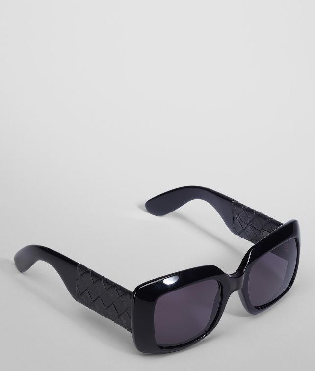 BOTTEGA VENETA Nero Acetate Leather Eyewear BV 1000/FS Sunglasses D fp