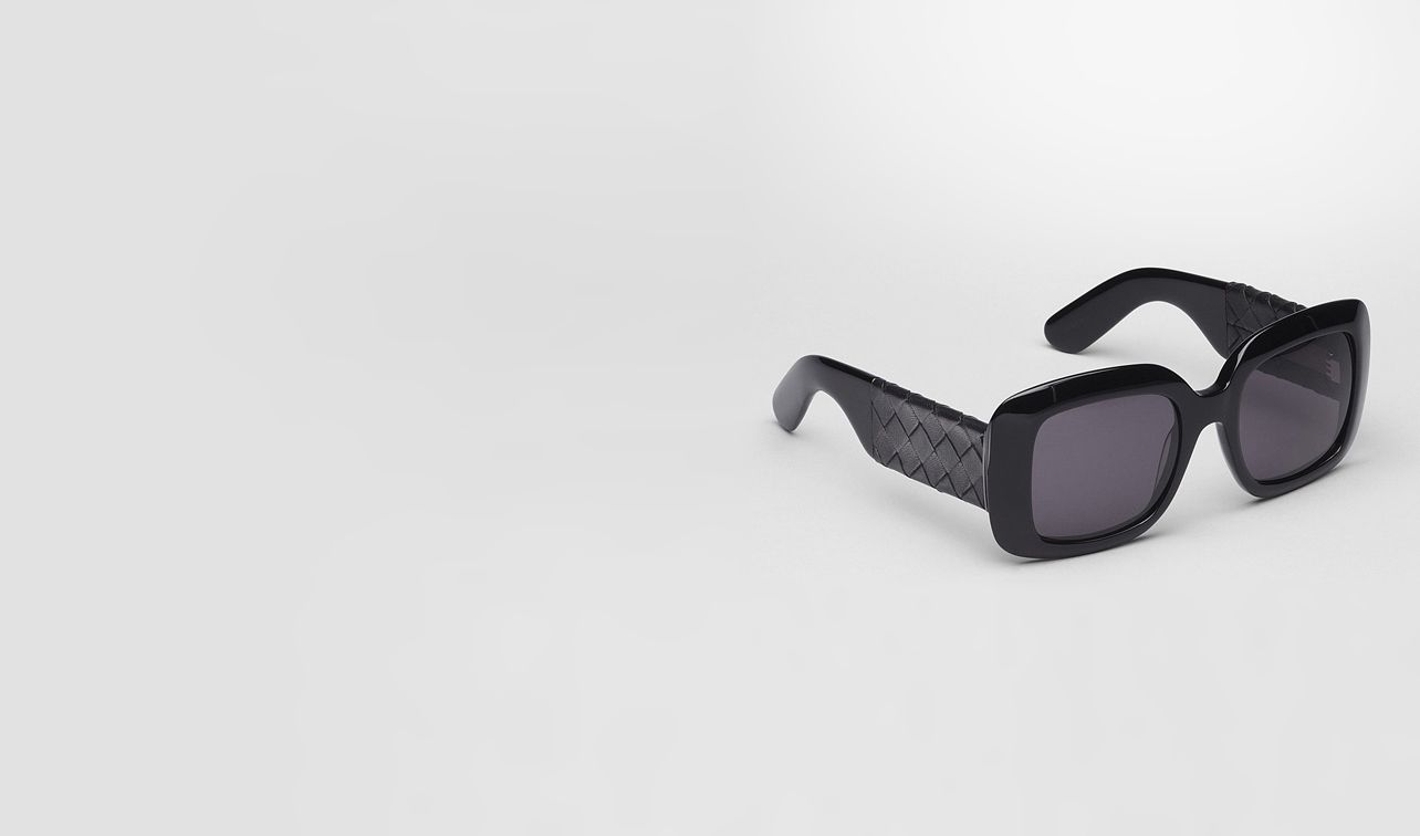 BOTTEGA VENETA Sunglasses D Nero Acetate Leather Eyewear BV 1000/FS Comfort Fit pl