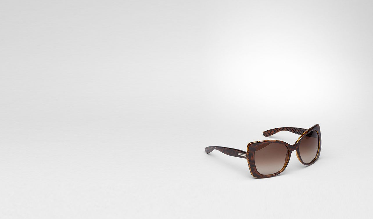 BOTTEGA VENETA Sunglasses D Havana Brown Shaded Eyewear BV 209/S pl