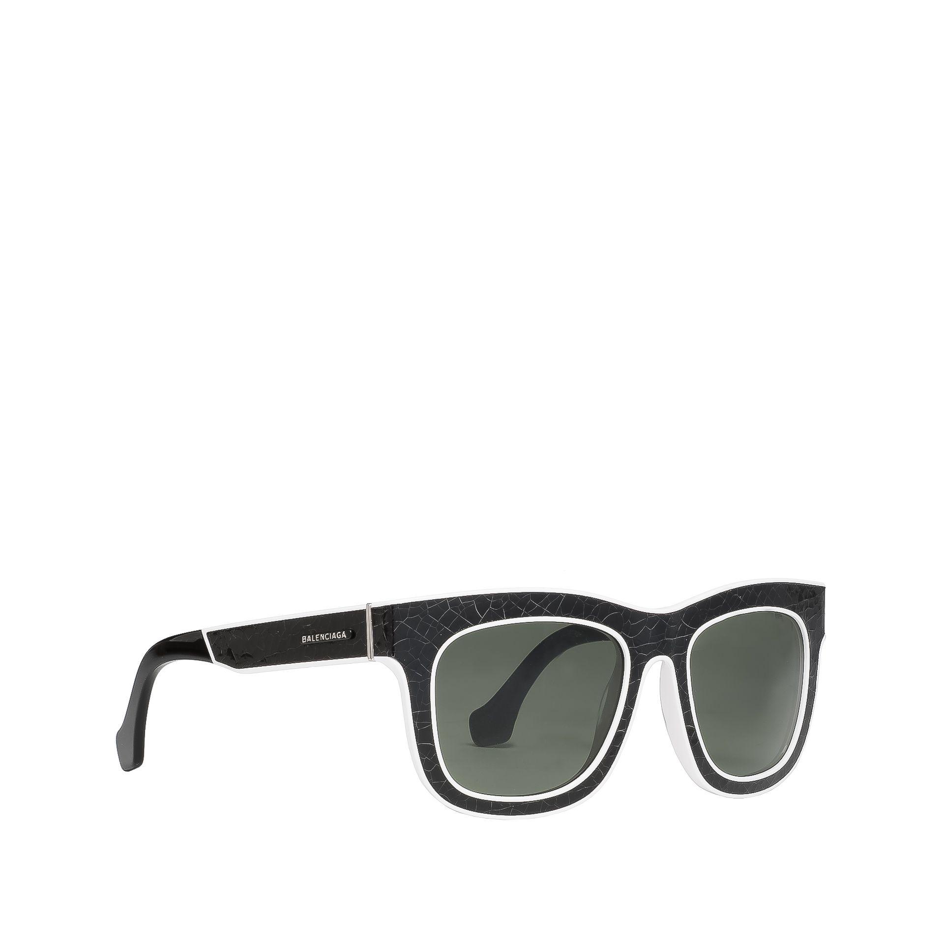 BALENCIAGA Sonnenbrille in eckiger Form mit Riss-Effekt Sonnenbrillen D f