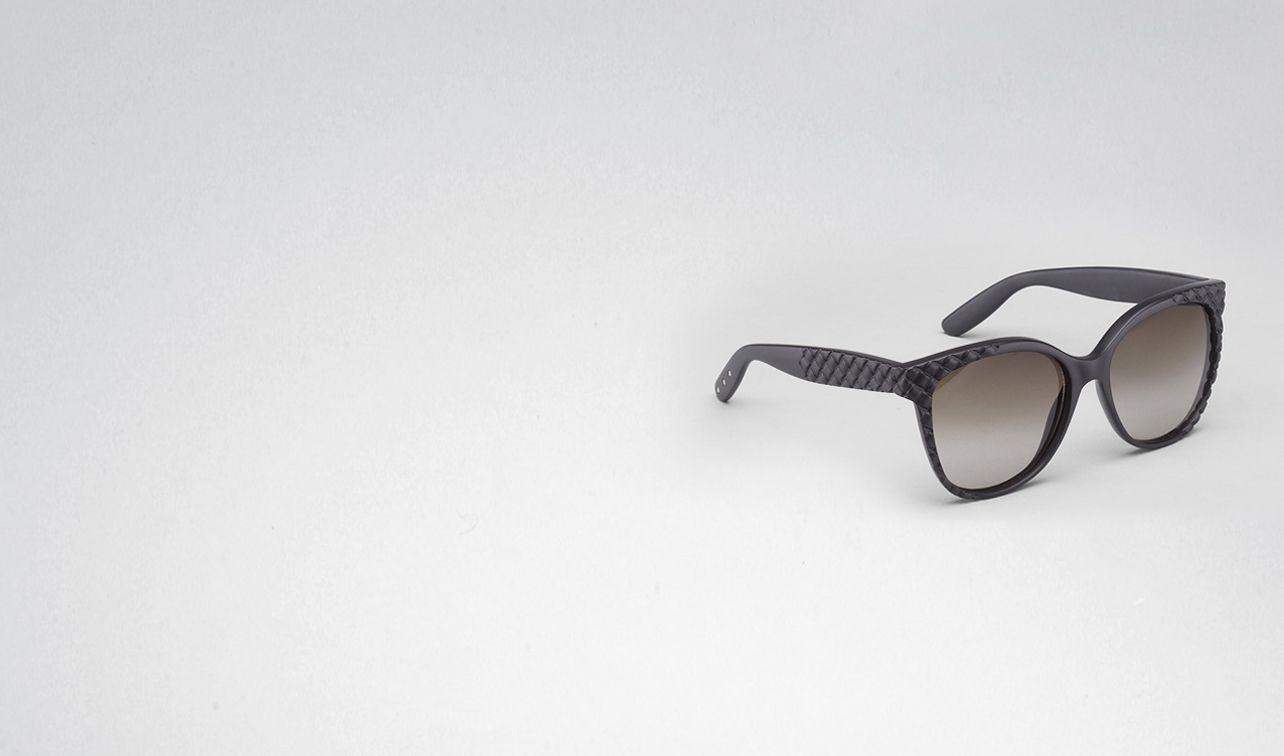 BOTTEGA VENETA Sunglasses D Rubber Black Brown Shaded Eyewear BV 247 pl