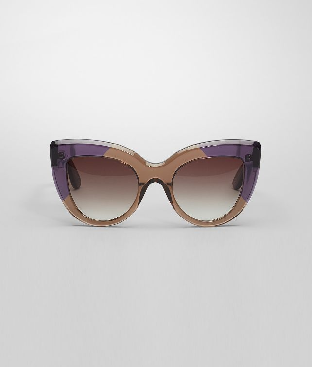 BOTTEGA VENETA Brown Violet Acetate Eyewear BV 263 Sunglasses D fp
