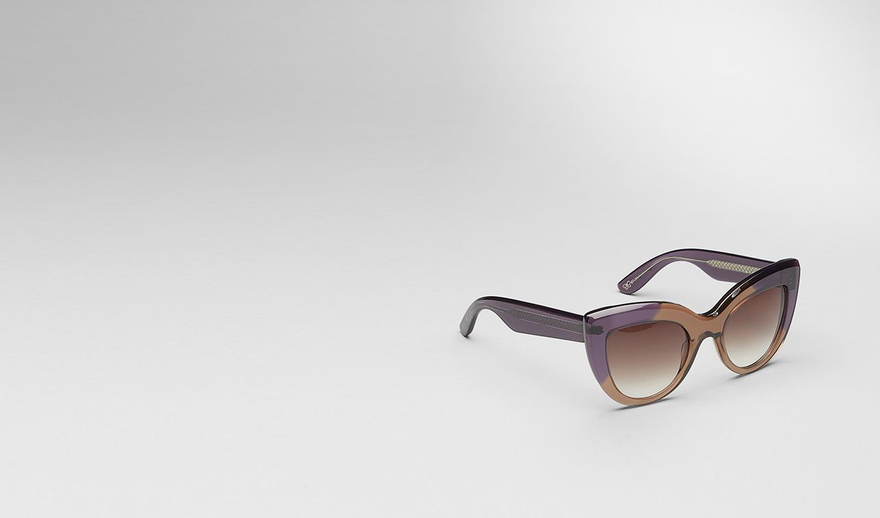BOTTEGA VENETA Sunglasses D Brown Violet Acetate Eyewear BV 263 pl