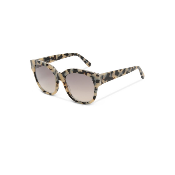 Beige Oversized Square Sunglasses