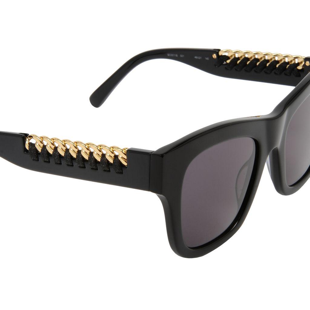 Black Falabella Square Sunglasses  - STELLA MCCARTNEY