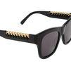 STELLA McCARTNEY Black Falabella Square Sunglasses Eyewear D e