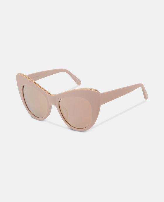 STELLA McCARTNEY Rose Oversized Cat Eye Sunglasses Eyewear D h