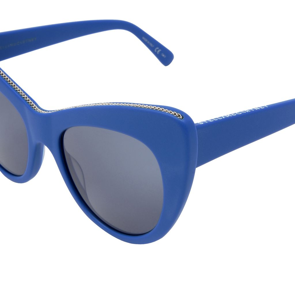 Cobalt Oversized Cat Eye Sunglasses  - STELLA MCCARTNEY