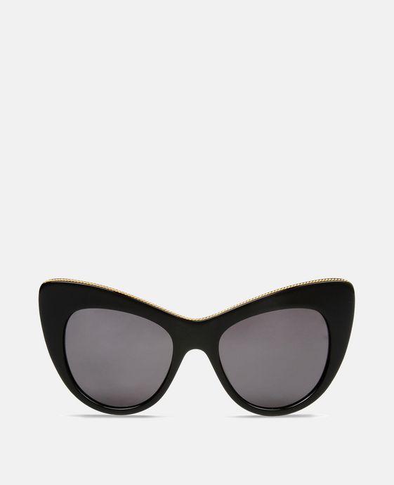 Black Oversized Cat Eye Sunglasses