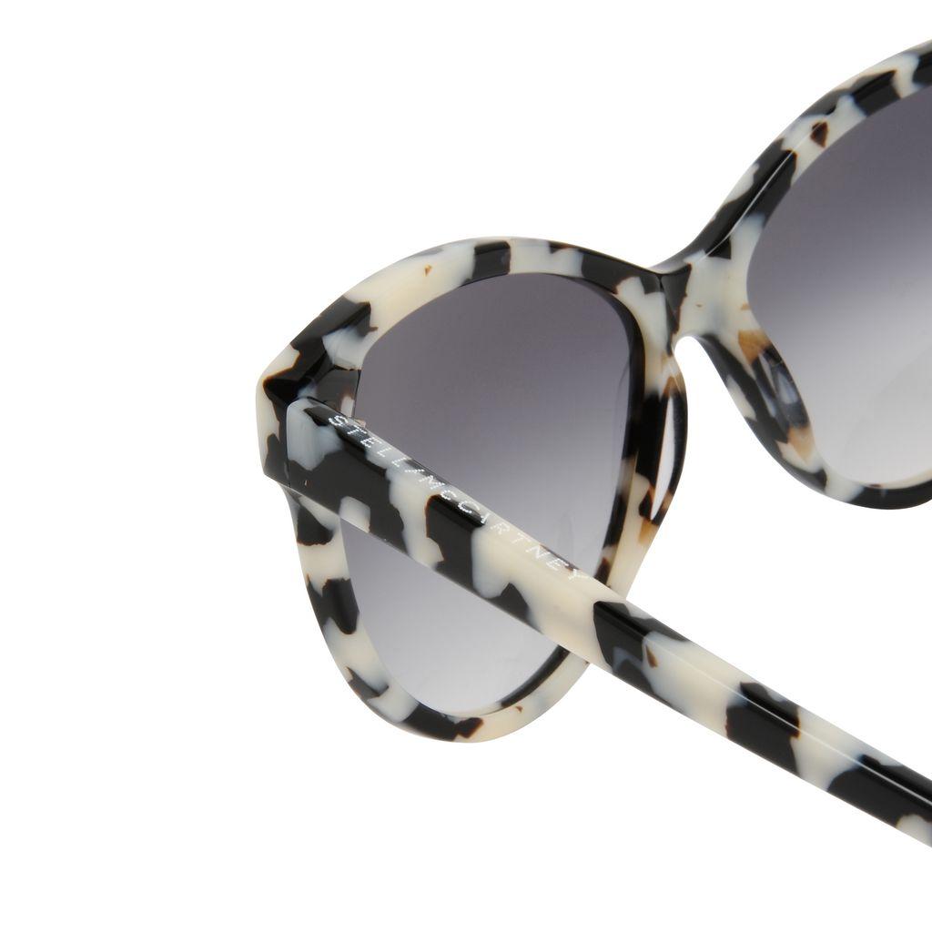 White Havana Cat Eye Sunglasses  - STELLA MCCARTNEY