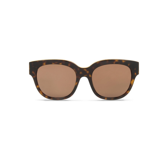 Havana Oversized Square Sunglasses
